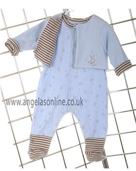 Absorba Baby Boys Teddy Bear Babygro | Jacket 9A36041