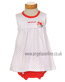 Tutto Piccolo Baby Girls Spotted Dress & Briefs 3791