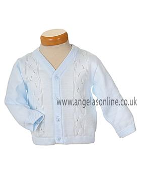 Pex Rupert Baby Boys Pale Blue Knit Cardigan B5206pb