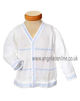Pex Baby Boys Striped Knit Cardigan B4686