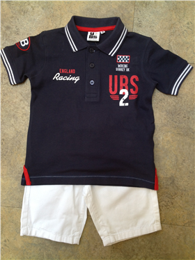 U2 BS Navy Polo Shirt & White Shorts 2999