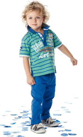 U2 BS Green/Blue stripe t shirt and blue trouser 1940/9940