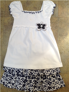 Dizzy Daisy Outfit | Smock Top & Floral Skirt 8068