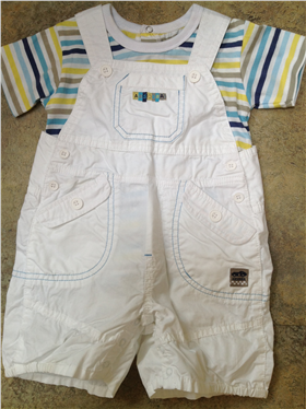 Absorba Boys 2 Pc Dungaree & T-Shirt Outfit 1234