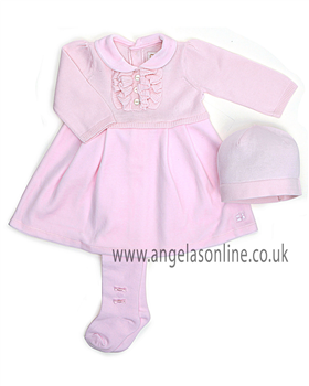 Emile et Rose Baby Girls Pink Dress, Hat & Tights 6220pp Britt