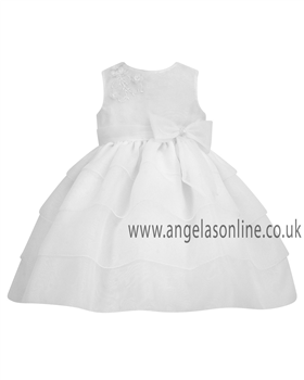 Sarah Louise Baby Girls White Christening Dress 9164wh