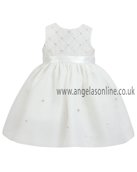 Sarah Louise Baby Girls Ivory Christening Dress 9162iv