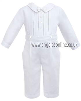 Sarah Louise Baby Boys White 2Pc Outfit 8978wh