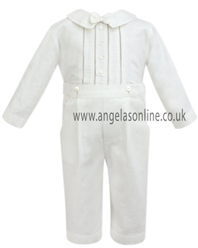 Sarah Louise Baby Boys Ivory 2Pc Outfit 8978iv