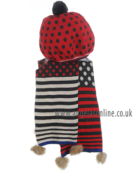 Deux par Deux Girls Spot/Stripes Hat & Scarf Set ETB | ETF