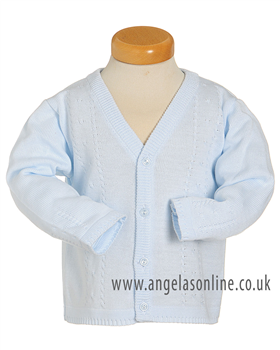 Pex Cable Baby Boys Pale Blue Knit Cardigan 5348