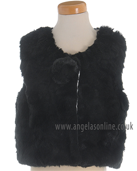 S&D Le Chic girls fake fur body warmer 5211