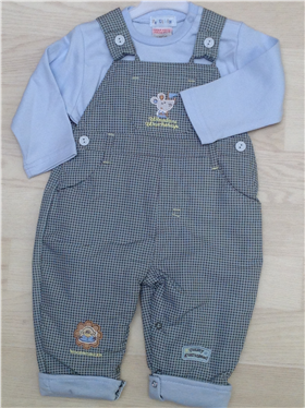 Everyday Kids Baby Boys Dungaree & Top Set 9029