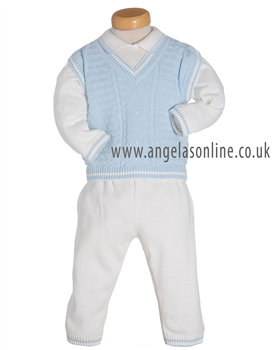 Pretty Originals Baby Boys Three Piece Set JP64080