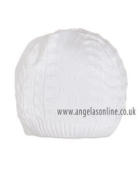 Pretty Originals Boys White Knitted Hat JP64360