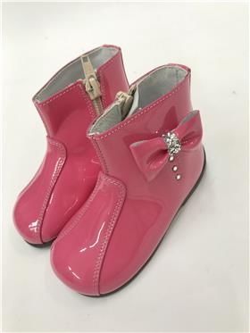 Andanines Baby Girls Pink Patent Leather Boot C92001PK