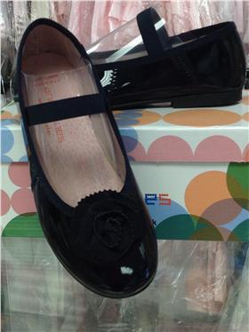 Andanines Girls Blue Patent Leather Shoe A95162BU