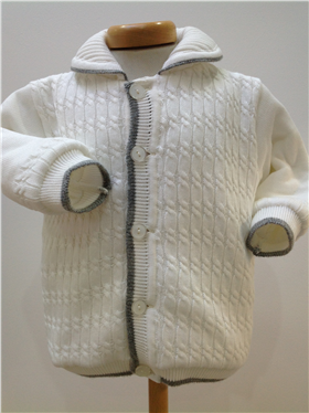 Pretty Originals Baby Boys Cream knitted Jacket JP65134