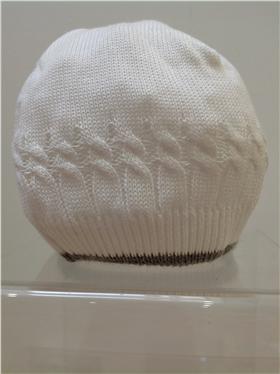 Pretty Originals Baby Boys Cream/Grey Knitted Hat JP65360