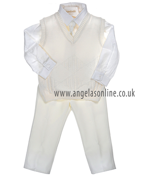 Bimbalo Baby Boys Cream 3 Piece Outfit 2598
