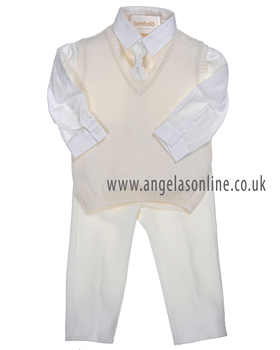 Bimbalo Baby Boys Cream 3 Piece Outfit 2597