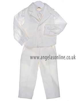 Bimbalo Baby Boys Ivory 3 Piece Suit 2596