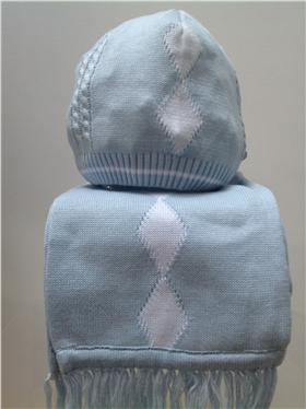Pretty Originals Boys Blue Knitted Scarf JP63270
