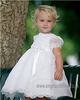 Sarah Louise Christening Dress  070008 White
