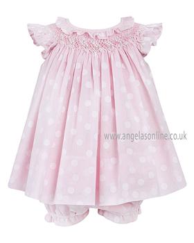 Sarah Louise Baby Girls Dress with Panties 9275 Pink