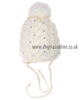 Ander diamante/line hat Ivory