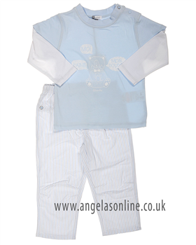 Absorba Baby Boy Short Set 9D36032 Blue
