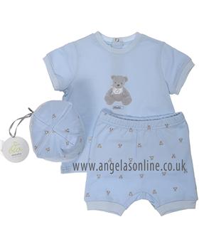 Absorba Baby Boy Short Set 9D37001 Blue