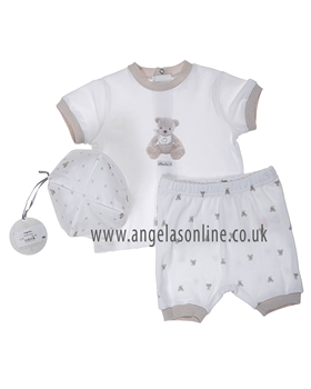Absorba Baby Boy Short Set 9D37001 White