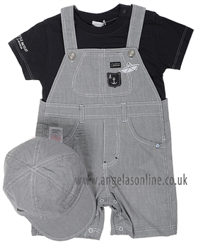 Absorba Baby Boy Short Leg Dungaree Set 9D37032