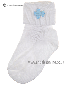 Boys Sock 125/5 wh/bl/plane