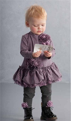 Kate Mack Girls Dress 116HG Grey