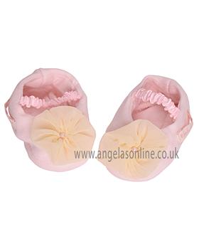Kate Mack Baby Girls Booties 326RP Pink