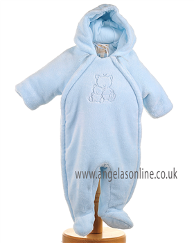 Emile et Rose Baby Boys Pale Blue Snowsuit with Hood, Dudley 1589pb