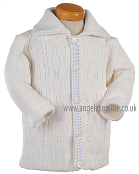 Pretty Originals Baby Boys Knitted Jacket JP91120 CR/BL