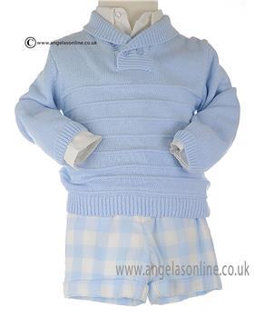 Tutto Piccolo Boys Jumper, shirt &Trouser 3 Pce Outfit 6010/6710/6310
