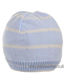 Pretty Originals Boys Blue/Cream Knitted Hat JP97360