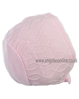 Pretty Originals Girls Bonnet JP96350 Pink