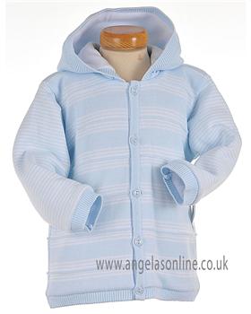 Pex Baby Boys Pale Blue/White Train Detail Winter Jacket B5755