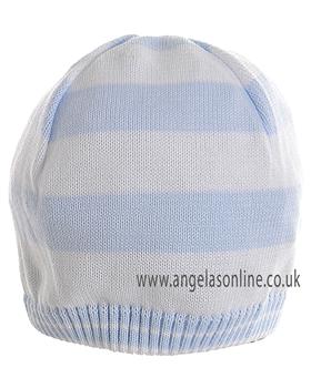 Pretty Originals Boys White & Blue Winter Hat JP90360