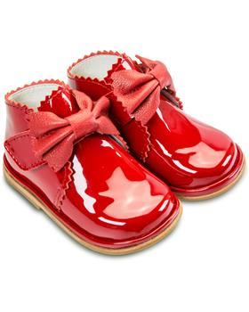 Fofito Girls Red Patent Leather Boot Sharon 1122