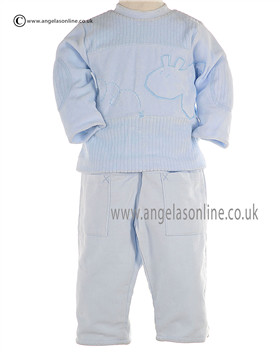 Valenri Boys Pale Blue Warm Winter Top & Soft Cord Trousers 314008