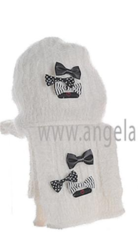 Deux Par Deux Girls Hat & Scarf ETB/ETF Cream
