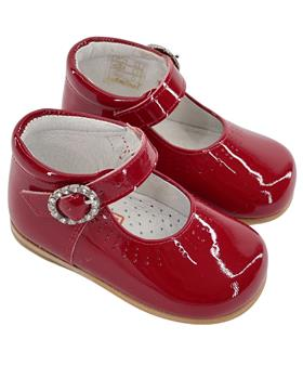 Andanines Girls Red Patent Leather Shoe A71032
