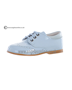 Andanines Boys Blue Patent Shoe E71645