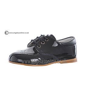 Andanines Boys Navy Patent Shoe E71645